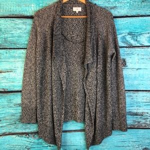 Lou & Grey Waterfall Wool Blend Cardigan NWOT